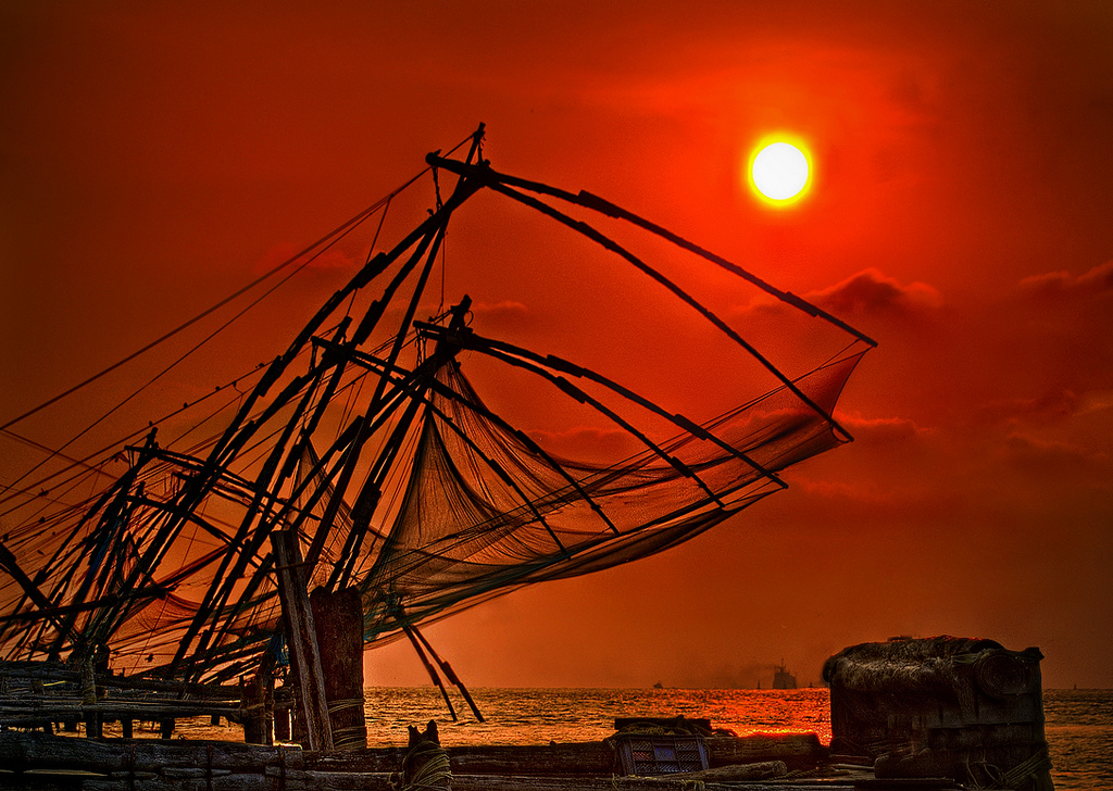 Chinese fish nets at Fort Kochi