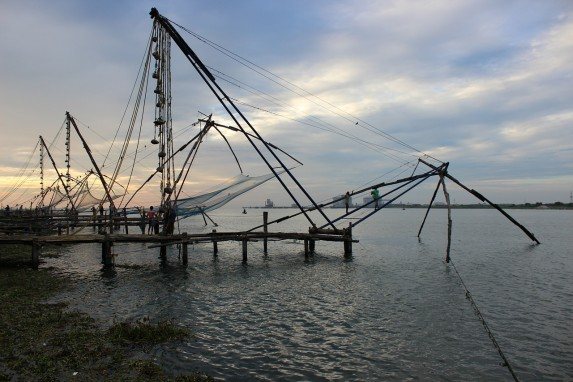 Fort Kochi Chinese fish nets